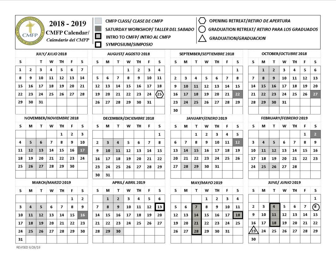 2018-2019 CMFP Calendar upgrade